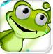 青蛙潇洒嬉水