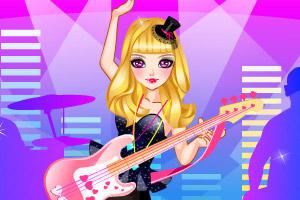 炫酷美女吉他手