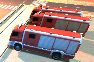 3D消防车停车