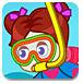 可爱的潜水女孩