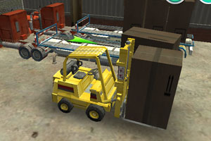 3D叉车仓库驾驶