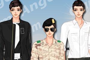 韩式男版军装
