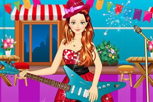 弹吉他的小女孩