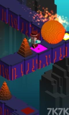 《像素头逃亡》游戏画面1