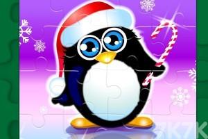 《新年企鹅拼图》游戏画面1