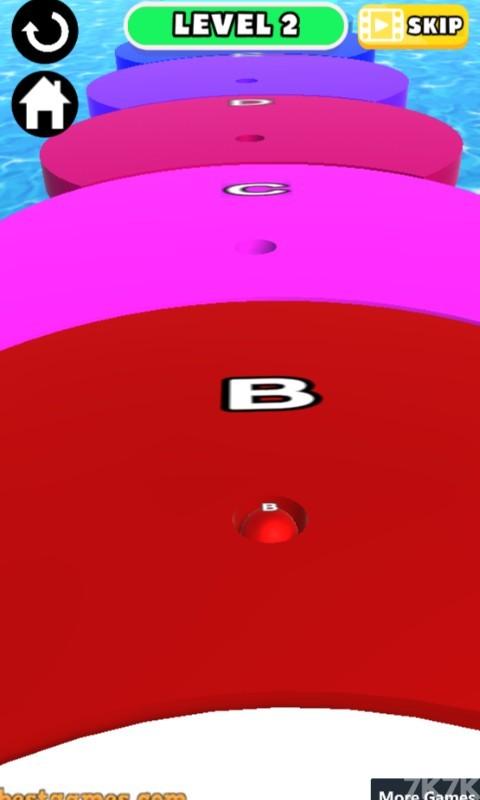 《字母球冲刺》游戏画面1