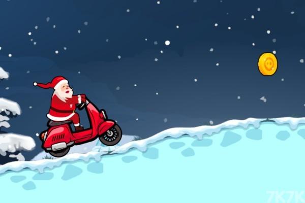 《圣诞摩托车无敌版》游戏画面1